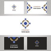 Business abstract logo, icon for company. Graphic design editable