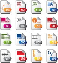 Computer document icons