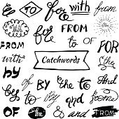 Catchwords and ampersands