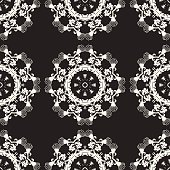 Ornate seamless pattern, decorative vector wallpaper.
