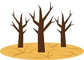 Drought icon. Ecological natural problem. Global warming