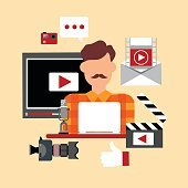 Video Blogger Blog Technology Concept