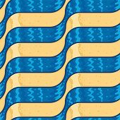 Abstract Sand and Blue Water Flow Seamless Pattern