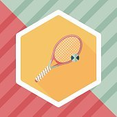 tennis flat icon with long shadow,eps10