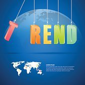 Design trend concept, abstract trend background