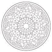 Coloring Space Round Ornament