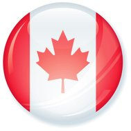 Canadian Flag Super Glossy Button