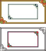Set of colored and black rectangle frames.