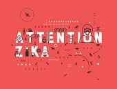 Design concept epidemic of attention zika