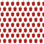Vector pattern with red sweet peppers