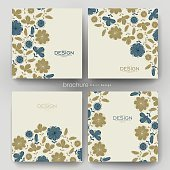 floral background vector brochure template. Flyer Layout