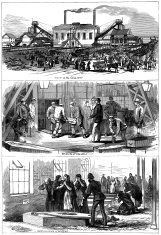 Colliery mining disaster 1877 - The Illustrated London News