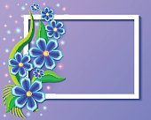 illustration background with beautiful paper-cut flowers. Floral