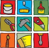 Painting and decorating icons