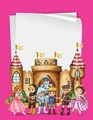 Paper design with characters from fairytales