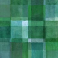 Green Geometric Painted Background