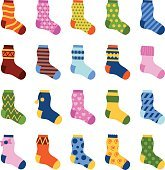 Socks vector illustration.