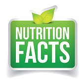 Nutrition Facts button vector