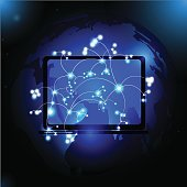 Computer Network global network vector.
