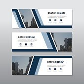 Orange square abstract corporate business banner template, horizontal advertising business