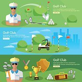 Golf banners elite golf club golfing elements game of golf