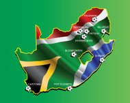 All cities of South Africa 2010 world championship