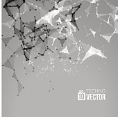 Abstract vector background. Futuristic style card. business presentations. Molecular structure