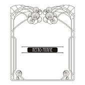 Vector frame in Art Nouveau or Modern style isolated.