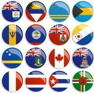 North America flags buttons