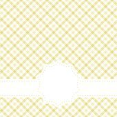 checkered table cloth pattern with banner
