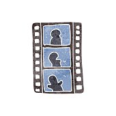 retro cartoon film strip