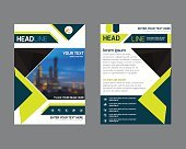 annual report brochure flyer design template. Leaflet cover pres