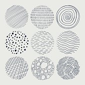 Vector Abstract Doodle Circles