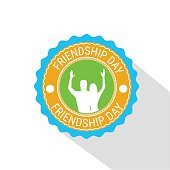Friendship Day Stamp Pin Friend Holiday