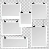 Photo Frame templates with binder clips.