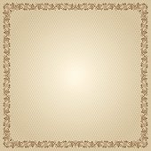 Ornate square frame and background.
