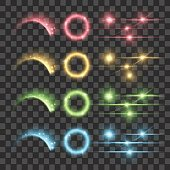 Vector Highlight Firework Glow Lens Flare Luminescence Fluorescence Illumination Lights