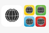World Icon Flat Graphic Design