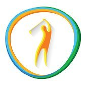 Golf Player Sport Competition Icon