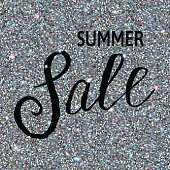 Summer Sale banner on silver background.