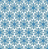 Snow seamless pattern. Winter ornament Abstract geometric oriental texture