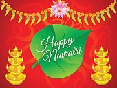 abstract artistic navratri background