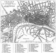 Map of London in the 17th Century