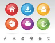 Icon Disc Representing Office Functions